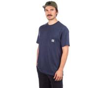 Basic Pocket Label T-Shirt indigo heather