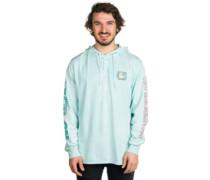 No Beach Hoodie T-Shirt LS turquoise