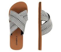 Ditsy Slide Sandals black out