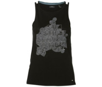 Sunset State Tank Top black out