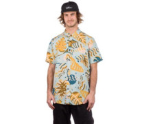 Scrap Floral Shirt sea glass