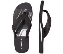 Imprint Pattern Sandals black aop