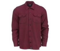 Glenville Shirt LS maroon