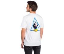 X Felix The Cat Triple Triangle T-Shirt white