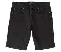 Outsider Denim Walk Shorts oil spill