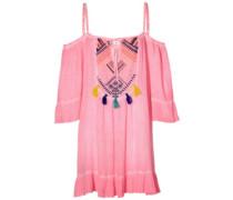 Soda Springs Emb Dress shocking pink