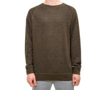 Crewneck Sweater dark olive melange