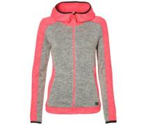 Piste Hoodie Fleece Jacket neon tangerine pink