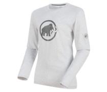 Logo T-Shirt LS marble melange