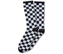Checkerboard II Crew (9.5-13) Socks white check