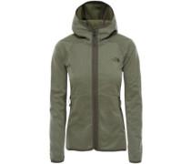 Arcata Hooded Fleece Jacket deep lichen green emboss