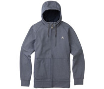 Crown Bonded Zip Hoodie denim heather