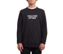 Supply Stone Crew Sweater new black