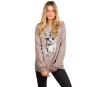 So What Loose Fit Crewneck Sweater heather rose