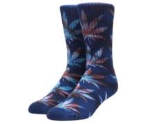Tiedye Leaves Plantlife Socks navy