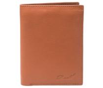 Trifold Leather Wallet cognac