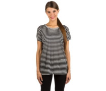 Stripe Print T-Shirt stripe winter grey