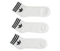 Trefoil Ank Star Socks black