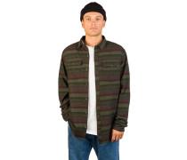 Malachi Woven Stripe Shirt green
