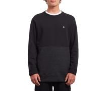 Sngl Stone Div Crew Sweater sulfur black