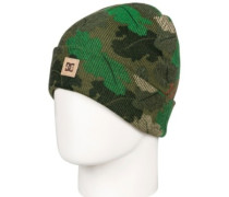 Label Beanie Youth chive leaf camo youth