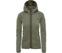 Arcata Hooded Fleece Jacket deep lichen green emboss