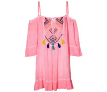 Soda Springs Emb Dress shocking pink