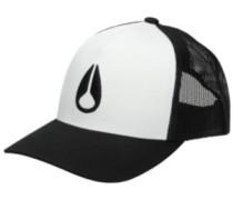 Iconed Trucker Cap white black