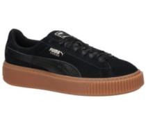 Suede Platform Bubble Sneakers black
