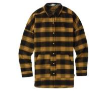 Teyla Flannel Shirt LS camel muirwoods plaid