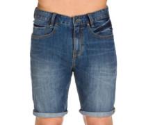 Outsider 5 Pockets Denim Shorts salty wash