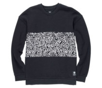 Kh Panel Crew Sweater flint black