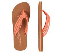 3 Strap Disty Sandals neon peach