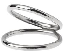 Silver Stripe Double Ring M 925 silver