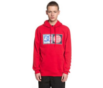 Global Salute Hoodie tango red