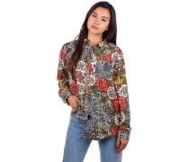 Grace Premium Flannel Shirt LS cheetah floral
