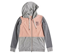 Dress Like You Re Colorblock Zip Hoodie coral cloud