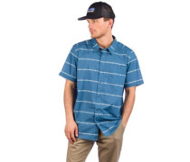 Go To Shirt hemp stripe pigeon blue