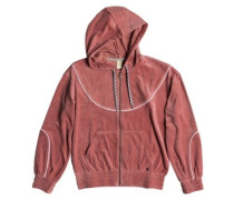Smouldering Flame Zip Hoodie withered rose