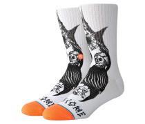 Darkness Socks white