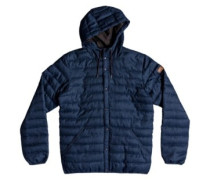 Scaly Wool Hooded Jacket medieval blue heather