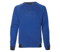 2-Face Hybrid Crew Sweater surf blue