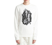 Night Shift Crew Sweater off white