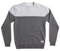 Rebel Block Crew Sweater charcoal heather