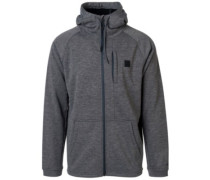 Busy Surf Day Zip Hoodie dark marle