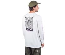 Screaming Bat Long Sleeve T-Shirt antique white