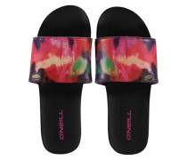 Pool Slide Sandals Women pink aop with blue 6
