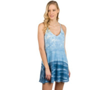 Poppy Dress navy tie dye