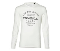 Stay Out T-Shirt LS super white