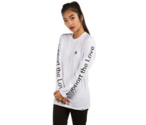 Support the Sprayed T-Shirt LS white